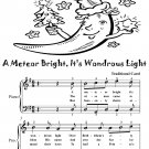 A Meteor Bright Its Wondrous Light Easy Piano Sheet Music Tadpole Edition PDF