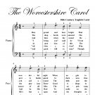 Worcestershire Carol Easy Piano Sheet Music PDF