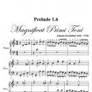 Prelude 1.6 Magnificat Primi Toni Easy Piano Sheet Music PDF