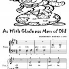As With Gladness Men of Old Beginner Piano Sheet Music Tadpole Edition PDF