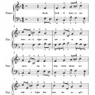 Break Forth O Beauteous Heavenly Light Easy Piano Sheet Music PDF