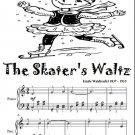 Skater's Waltz Easy Elementary Piano Sheet Music Tadpole Edition PDF
