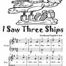 I Saw Three Ships Easy Piano Sheet Music Tadpole Edition PDF
