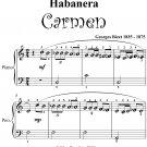 Habanera Carmen Easiest Piano Sheet Music PDF