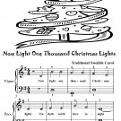 Now Light One Thousand Christmas Lights Easy Piano Sheet Music Tadpole Edition PDF