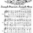 Joseph Dearest Joseph Mine Easy Piano Sheet Music Tadpole Edition