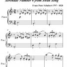 Serenade Standchen Number 4 Easiest Piano Sheet Music PDF
