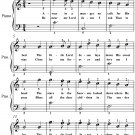 Away in a Manger Easiest Piano Sheet Music PDF