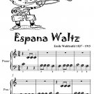 Espana Waltz Beginner Piano Sheet Music Tadpole Edition PDF