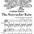 Arabian Dance Nutcracker Suite Easy Piano Sheet Music Tadpole Edition PDF