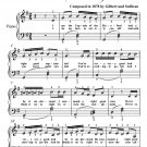 I Am the Captain of the Pinafore Easy Piano Sheet Music PDF