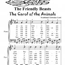Friendly Beasts the Carol of the Animals Easy Piano Sheet Music Tadpole Edition PDF
