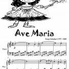 Ave Maria Easy Piano Sheet Music Tadpole Edition PDF