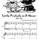 Little Prelude In D Minor Bwv 926 Easiest Piano Sheet Music Tadpole Edition PDF