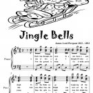 Jingle Bells Easy Intermediate Piano Sheet Music Tadpole Edition PDF