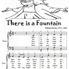 There Is a Fountain Easy Piano Sheet Music Tadpole Edition PDF