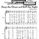 Deep the Gloom and Still the Night Easy Piano Sheet Music Tadpole Edition PDF