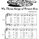 We Three Kings of Orient Are Easiest Piano Sheet Music Tadpole Edition PDF