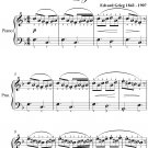 Morning Peer Gynt Suite Easy Piano Sheet Music PDF