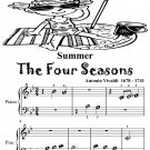 Summer the Four Seasons Beginner Piano Sheet Music Tadpole Edition PDF