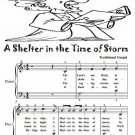 A Shelter in the Time of Storm Easy Piano Sheet Music Tadpole Edition PDF