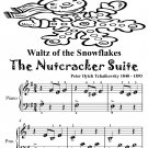 Waltz of the Snowflakes the Nutcracker Suite Beginner Piano Sheet Music Tadpole Edition PDF