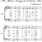 We Three Kings of Orient Are Easiest Piano Sheet Music PDF