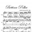Bettina Polka Easy Elementary Piano Sheet Music PDF
