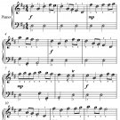 King William's March Easy Piano Sheet Music PDF
