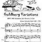 Goldberg Variations BWV 988 5a1 Ovvero 2 Clav Easiest Piano Sheet Music Tadpole Edition PDF