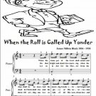 When the Roll Is Called Up Yonder Easy Piano Sheet Music Tadpole Edition PDF