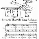 Give Me That Old Time Religion Easy Piano Sheet Music Tadpole Edition PDF