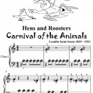 Hens and Roosters Carnival of the Animals Beginner Piano Sheet Music Tadpole Edition PDF