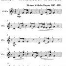 Bridal Chorus Easy Violin Sheet Music PDF