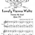 Lovely Vienna Waltz Vienna My Soul Opus 192 Easiest Piano Sheet Music Tadpole Edition PDF