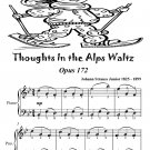 Thoughts In the Alps Waltz Opus 172 Easiest Piano Sheet Music Tadpole Edition PDF