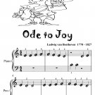 Ode to Joy Beginner Piano Sheet Music Tadpole Edition PDF