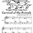 People With Long Ears Carnival of the Animals Beginner Piano Sheet Music Tadpole Edition PDF
