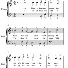 Lo How a Rose Ever Blooming Easiest Piano Sheet Music PDF
