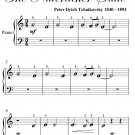Arabian Dance Nutcracker Suite Beginner Piano Sheet Music PDF