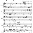 March Before the Battle My Lady Nevells Book Easy Piano Sheet Music PDF