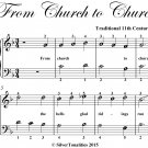 From Church to Church Easy Piano Sheet Music PDF