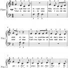 Joseph Dearest Joseph Mine Beginner Piano Sheet Music PDF