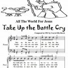All the World for Jesus Take Up the Battle Cry Easy Piano Sheet Music Tadpole Edition PDF