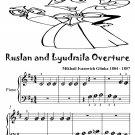 Ruslan and Lyudmila Overture Beginner Piano Sheet Music Tadpole Edition PDF