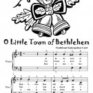 O Little Town of Bethlehem Easy Piano Sheet Music Tadpole Edition PDF