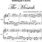 Hallelujah Chorus the Messiah Easy Elementary Piano Sheet Music PDF