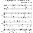 Prelude Number 1.1 Magnificat Primi Toni Easy Piano Sheet Music PDF