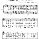 O Holy Night Easy Intermediate Piano Sheet Music PDF