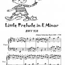 Little Prelude in E Minor Bwv 938 Easiest Piano Sheet Music Tadpole Edition PDF